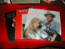 MEL TILLIS & NANCY SINATRA....LOT of THREE....LP
