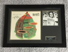 Signed and mounted Johnny Rotten Signature. Sex Pistols. PiL