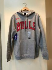 Mens Nike Chicago Bulls pullover hoodie 911744-063 Grey Brand New Size XL