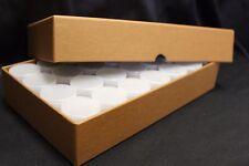 4 Half Dollar Coin Tube Storage Box GUARDHOUSE 30.6mm + 112 Plastic Tubes BCW