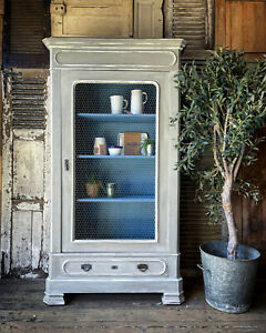 Gorgeous French Handpainted Armoire / Linen Press