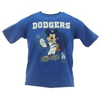 Los Angeles Dodgers MLB Majestic Youth Kids Size Disney Character T-Shirt New