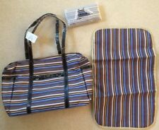 Wallet & Baby Diaper Bag or large Purse Tote all matching, Stripes & Leopard New