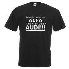 ALFA Romeo T Shirt Divertente Alfa Alfasud GTA 155 156 147 GT GTV 75 Tee Regalo Papà