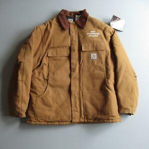 Brown Carhartt Lined Canvas Jacket Coat Work wear 46