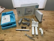 Nintendo Wii White Console Original Box & Extra wii mote and charger * EX *