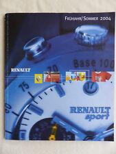 Renault Sport Merchandising Katalog 2004 - Prospekt Brochure 03.2004