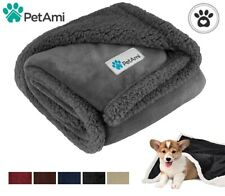 Pet Blanket for Small Medium Dog Puppy Cat Reversible Fleece Warm Sherpa Doggy