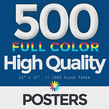 """500, Full Color 11""""x17"""" POSTERS - Poster Printing"""