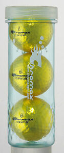 Chromax Metallic Coloured DISTANCE Golf Balls 3 Ball Tube - Can be Personalised