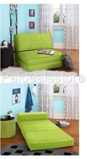 Flip Chair Fold Down Green Converts Into A Sleeper Bed Lounger Couch Game Dorm