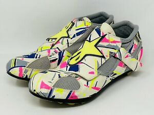 Vintage Alpinestars Cycling Shoes Multi Color Mens Sz 11-11.5 US