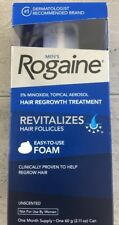 New Men's Rogaine Easy-To-Use FOAM, Unscented,1 Month Supply Exp.07/2018