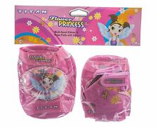 Titan Bicycles Flower Princess Girls Multi-Sport Pad Set