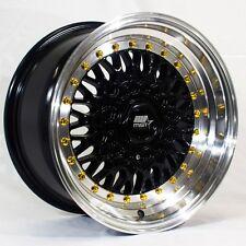 MST MT13 15x8 4x100/4x114.3 +20 Black Rims Fits Carrado Del So Civic Crx