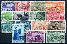LUXEMBURG 1935 266-280 gestempelt INTELLEKTUELLE ATTEST BÖTTGER BPP2500€(Z8564