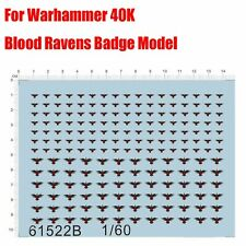 Water Slide Decal Aufkleber Set für Warhammer 40K Blood Ravens Badge Modell 1:60