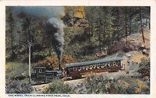 Colorado postcard Cog Wheel train climbing Pikes Peak railway railroad
