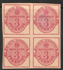 Hanover, Sc#16a, VF MOG Block of 4, **Forgery**, Germany, Altdeutschland