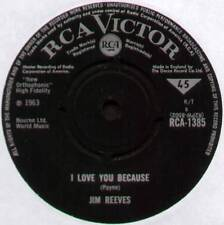 """JIM REEVES ~ I LOVE YOU BECAUSE / ANNA MARIE ~ 1963 UK 7"""" SINGLE ~ RCA 1385"""