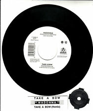"MADONNA Take A Bow 7"" 45 rpm record + juke box title strip"