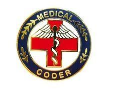 Caduceus Professional Career Pins 116 New Medical Coder Lapel Pin Red Cross