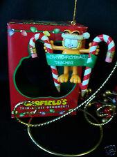 Paws 20 years of Garfield Ornament 1996 Garfield Merry Christmas Teacher