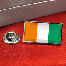 Ivory Coast/Cote d'Ivoire Flag Lapel Pin Badge / Tie Pin