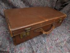 C -  VINTAGE HEAVY LEATHER CASE WITH INSIDE POCKET - GORGEOUS PATINA