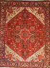 Hand-knotted Rug (Carpet) 9'6X12'3, Heriz mint condition