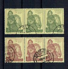 Portugal 1951 USED block of 3 complete set #731-2 CTO National Fishing Congress