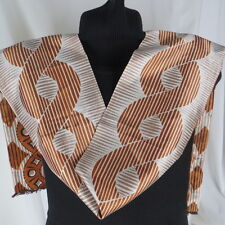 "Vintage Baar & Beards Tube Scarf Oblong 62""x7"" Rust Brown Italy"
