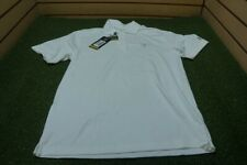 NEW Under Armour Golf Loose Polo Mens Size Small White W/Logo  Clothing