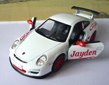 PERSONALISED NAME Gift White Porsche Boys Toys Dad Car Model Box Stocking Filler