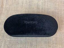 TOM FORD Brown Velvet Hard Clam Shell Sunglasses / Glasses Case