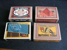 4 MATCHBOX PUZZLE CASSE TETE THE CROSS PYRAMID WALK THE PLANK BERMUDA TRIANGLE