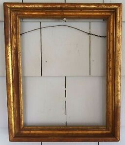 Antique GOLD Victorian PICTURE FRAME, Mission w/ Red Highlights