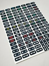 Button Box Labels / Sim Racing Decals / Button box Stickers