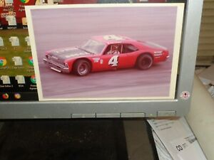 Late 1970s Bob Pressley No. 4 Nova Vintage NASCAR Hickory 5 x 7 Photo