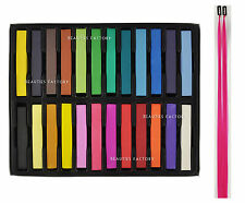 24 Color Hair Chalk Temporary Highlight Coloring Dye Styling Pastels Party AZ984