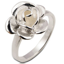 Ring Rose 925 White Sterling Silver Size.US=6  UK=L Circumference 51 mm