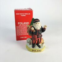 "Vintage Polish The Star Man Santa figurine 4.5"" tall"