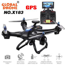 Global Drone 6Axis X183 1080P WiFi FPV Camera GPS Brushles Quadcopter Helicopter