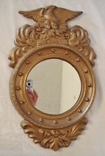 Eagle Porthole Wall Mirror 18x11 Federal Style Early Syroco? Antique Gold Finish