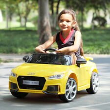 12V Electric Kids Ride On Car Led Lights Licensed Mp3 Rc Remote Control Yellow
