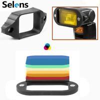 Selens Magnetic Flash Modifier Universal 7 Color Gels Filter & Rubber Band Grip