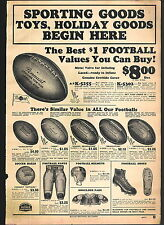 1932 ADVERTISEMENT Pennant Leather Football Pants Laced Basketball