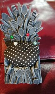 Upcycled Egg Cups To Pin Cushions novelty gift sew Game of Thrones iron throne