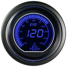 "2"" 52mm Oil Temp Temperature Gauge Blue/Red LED Digital Display Gauge Car Meter"