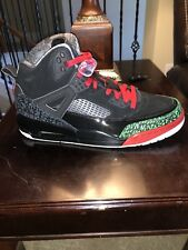Air Jordan Spizike Black Green Red Varsity White Sz 9 (315371-026)